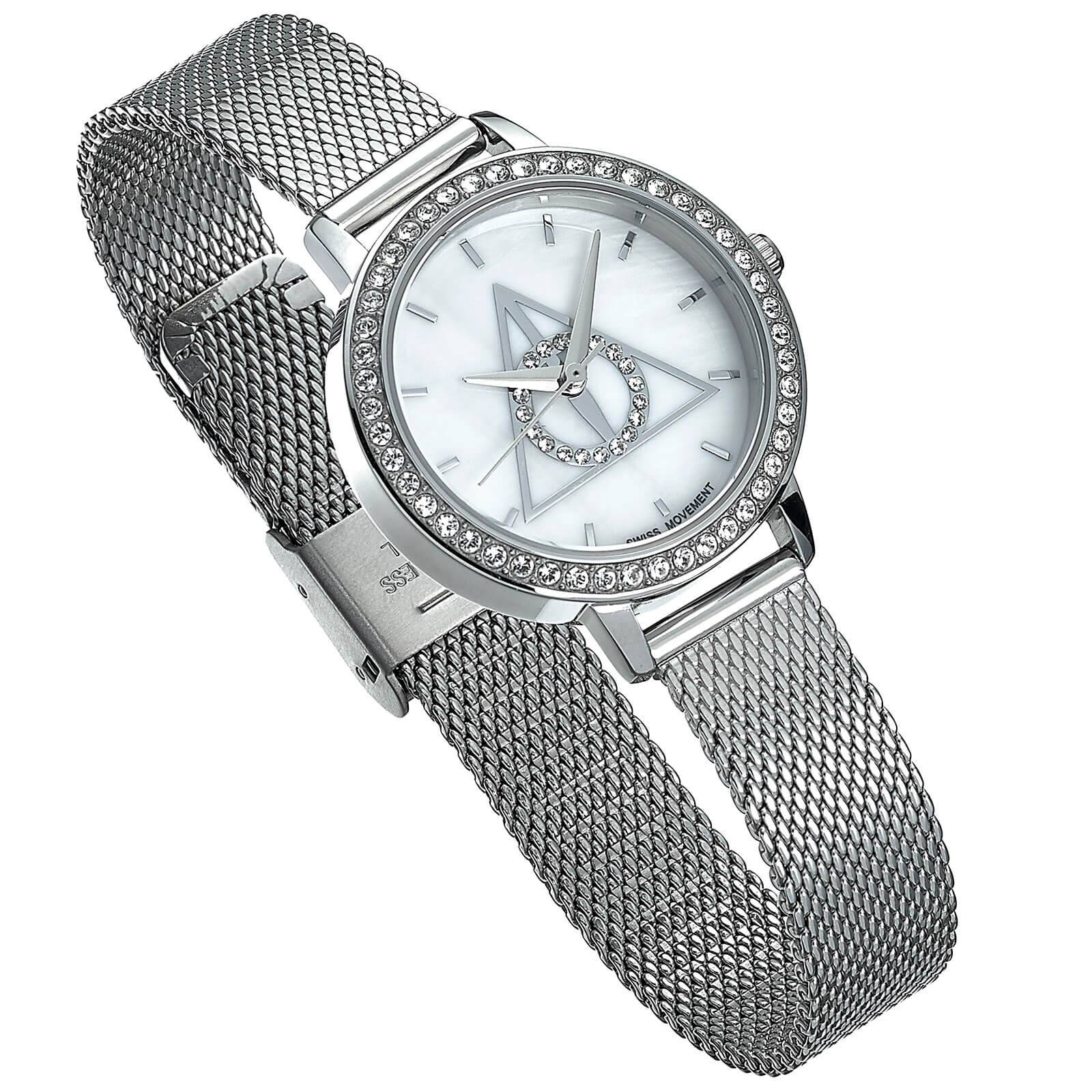 Harry Potter Silver Deathly Hallows Watch Embellished with Swarovski Crystals