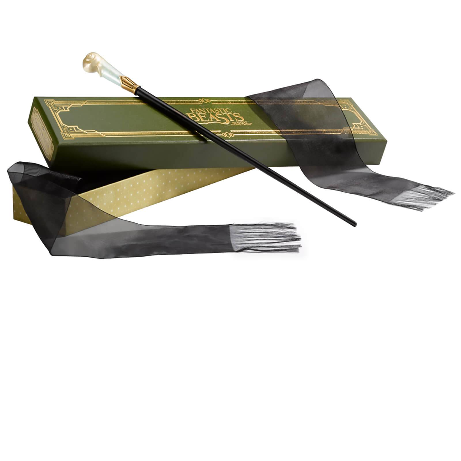 Noble Collection Fantastic Beasts and Where to Find Them Queenie Goldstein's Wand in Ollivander's Collector's Box