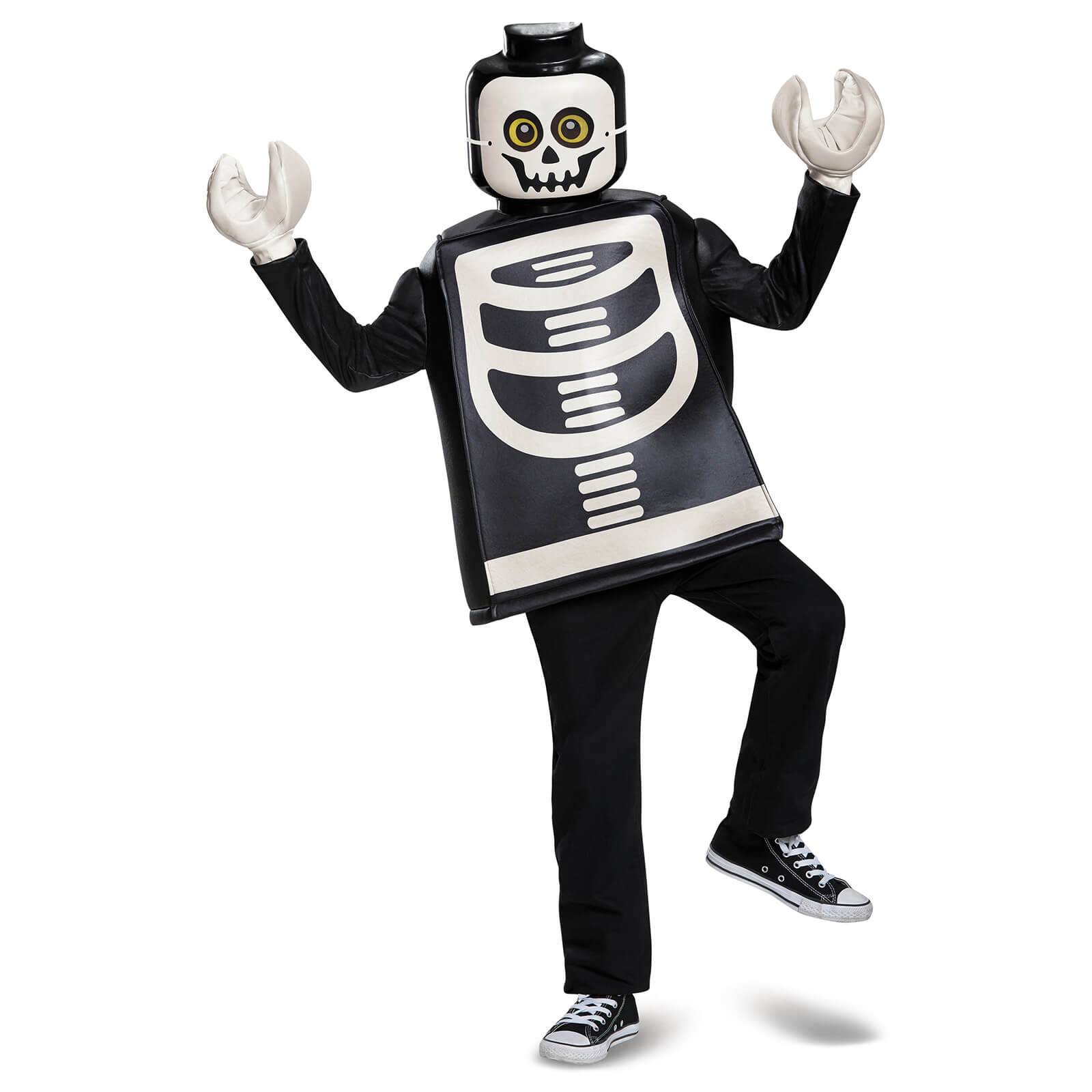 Lego Iconic Kids Skeleton Classic Halloween Fancy Dress - Black - S/4-6 Years - Black
