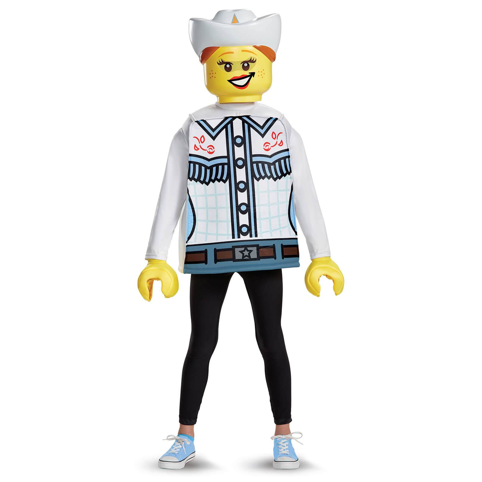 Lego Iconic Kids Cowgirl Classic Fancy Dress - White - M/7-8 Years - White