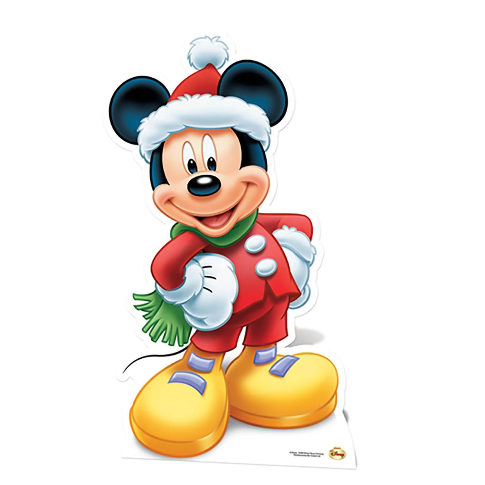 Star Cut Outs Mickey Mouse Christmas Mini Cardboard Cut Out