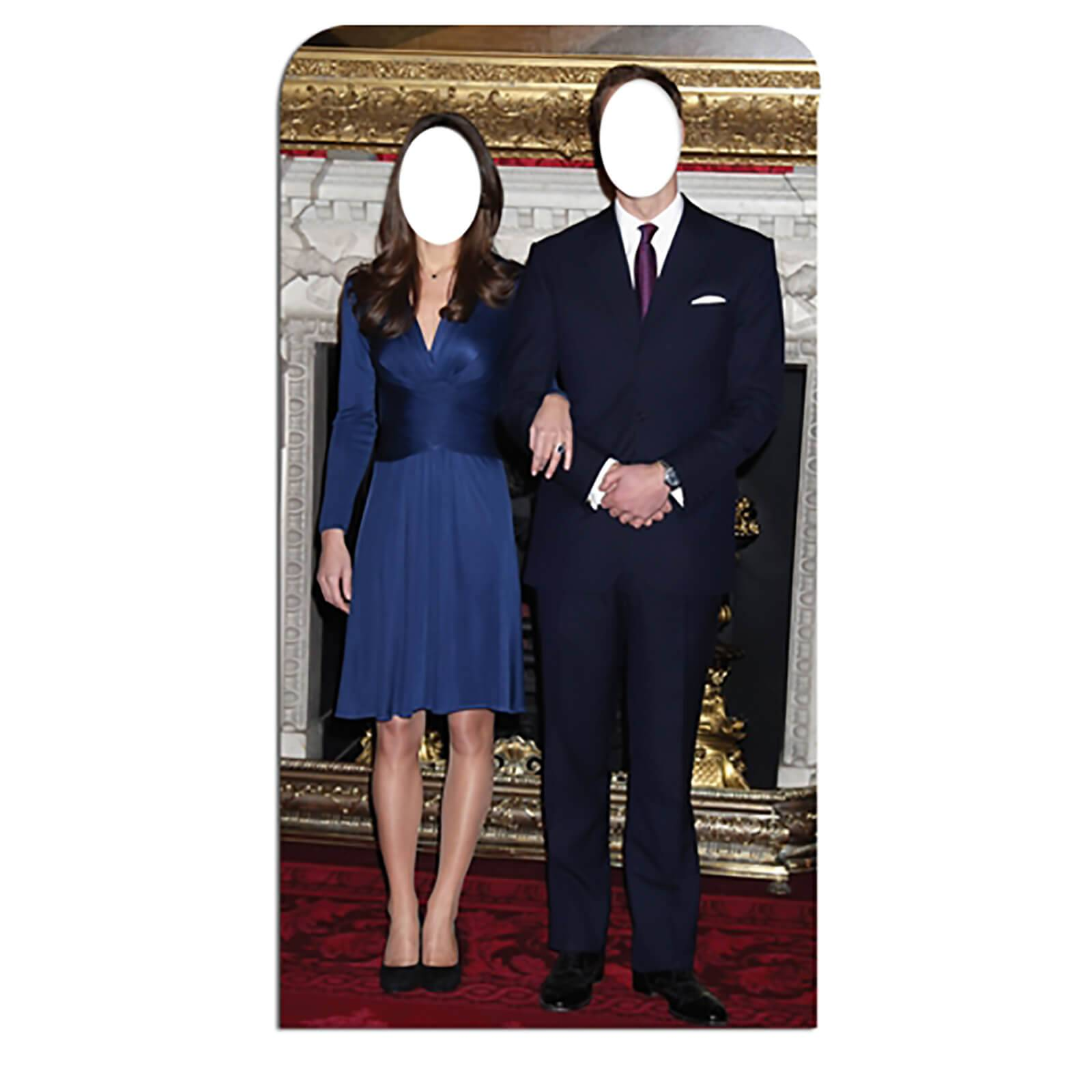 Star Cut Outs Will and Kate Stand-In Lifesize Cardboard Cut Out