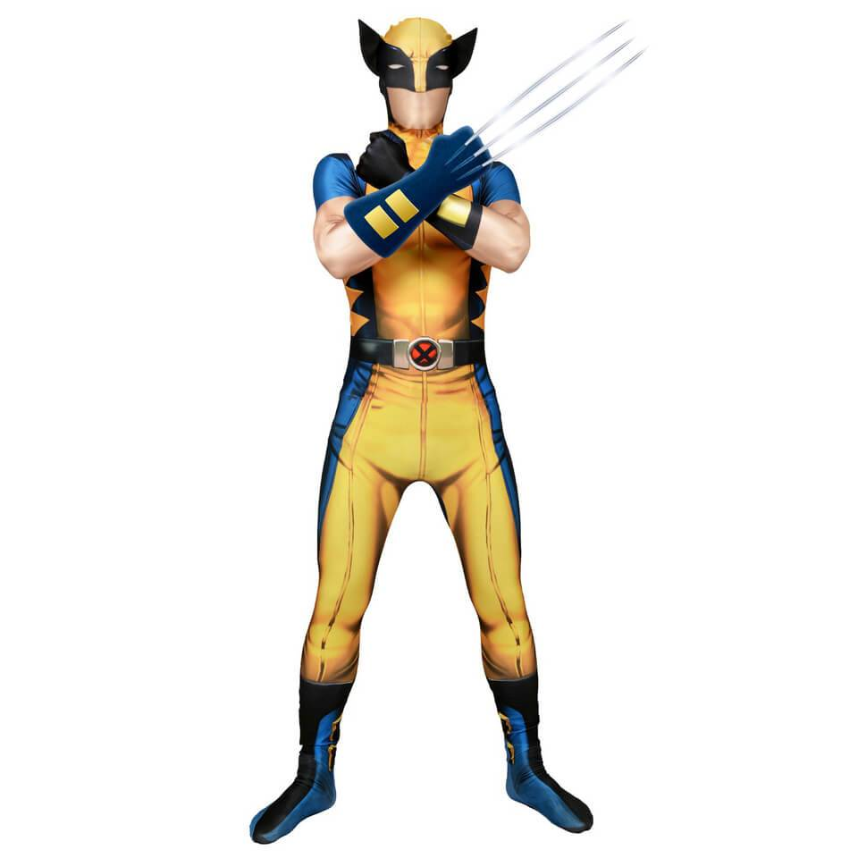 Morphsuits Morphsuit Adults' Deluxe Zapper Marvel Wolverine - M - Yellow