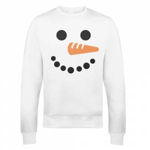 The Christmas Collection Snowman Xmas Sweatshirt - XXL - White