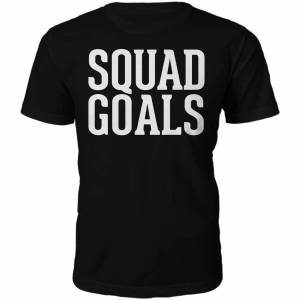 The Slogan Collection Squad Goals Slogan T-Shirt - Black - XXL - Black