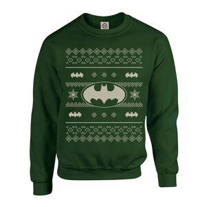 DC Comics Originals Batman Knit Green Christmas Sweatshirt - S - Green