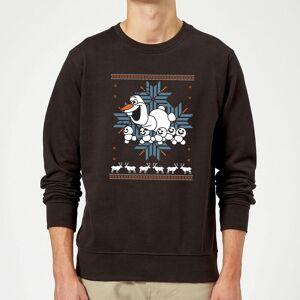 Disney Frozen Christmas Olaf And Snowmens Black Christmas Sweatshirt - L - Black