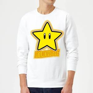 Nintendo Super Mario Invincible Sweatshirt - White - M - White