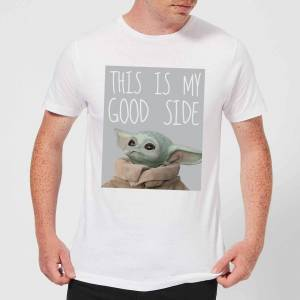 Star Wars The Mandalorian This Is My Good Side Men's T-Shirt - White - 5XL - White