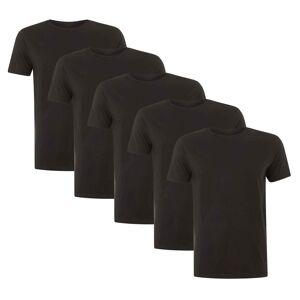 Native Shore Men's Essential 5 Pack T-Shirt - Black - M - Black