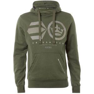 Crosshatch Men's Logocamo Hoody - Beetle - M - Khaki