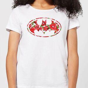 DC Comics Floral Batman Logo Women's T-Shirt - White - L - White
