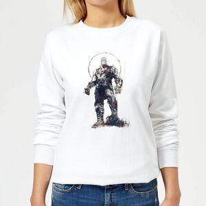 Marvel Avengers Infinity War Thanos Sketch Women's Sweatshirt - White - M - White