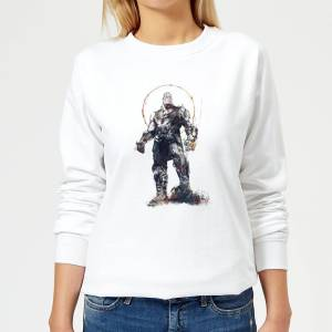 Marvel Avengers Infinity War Thanos Sketch Women's Sweatshirt - White - M - White