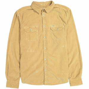 Wrangler Men's 2 Pocket Micro Cord Shirt - Clay Beige - S - Beige