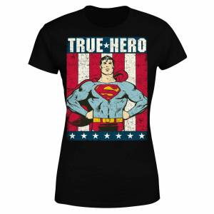 DC Comics DC Originals Superman True Hero Women's T-Shirt - Black - XL - Black
