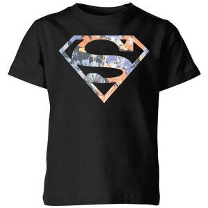 DC Comics DC Originals Floral Superman Kids' T-Shirt - Black - 3-4 Years - Black