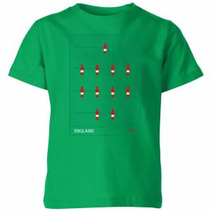 Football England Fooseball Kids' T-Shirt - Kelly Green - 5-6 Years - Kelly Green