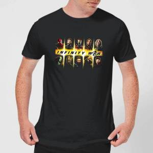 Marvel Avengers Team Lineup Men's T-Shirt - Black - M - Black