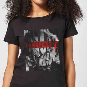 Chucky Typographic Women's T-Shirt - Black - M - Black