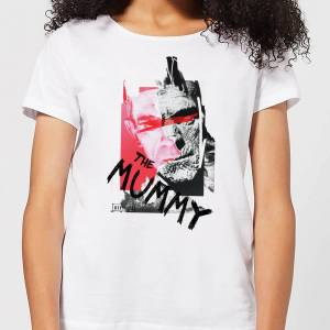 Universal Monsters The Mummy Collage Women's T-Shirt - White - XL - White