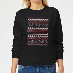 Star Wars On The Naughty List Pattern Women's Christmas Sweatshirt - Black - L - Black