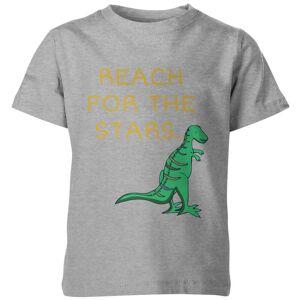 My Little Rascal Kids Dinosaur Reach for the Stars Grey T-Shirt - 5-6 Years - Grey