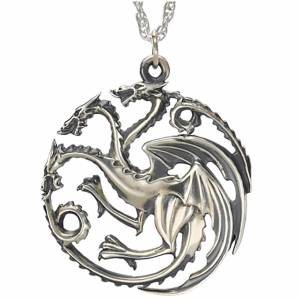 Noble Collection Game of Thrones House Targaryen Sterling Silver Pendant