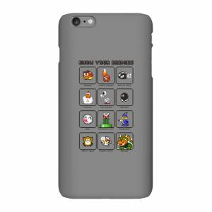 Nintendo Super Mario Know Your Enemies Phone Case - iPhone 6 Plus - Snap Case - Matte