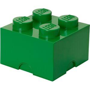 Lego Storage Brick 4 - Dark Green
