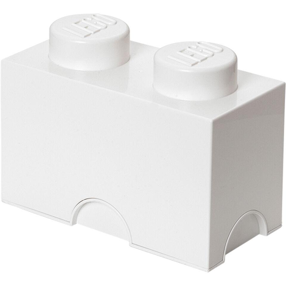 Lego Storage Brick 2- White