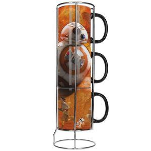 HEO Star Wars: The Force Awakens BB-8 3 Stackable Mug Set