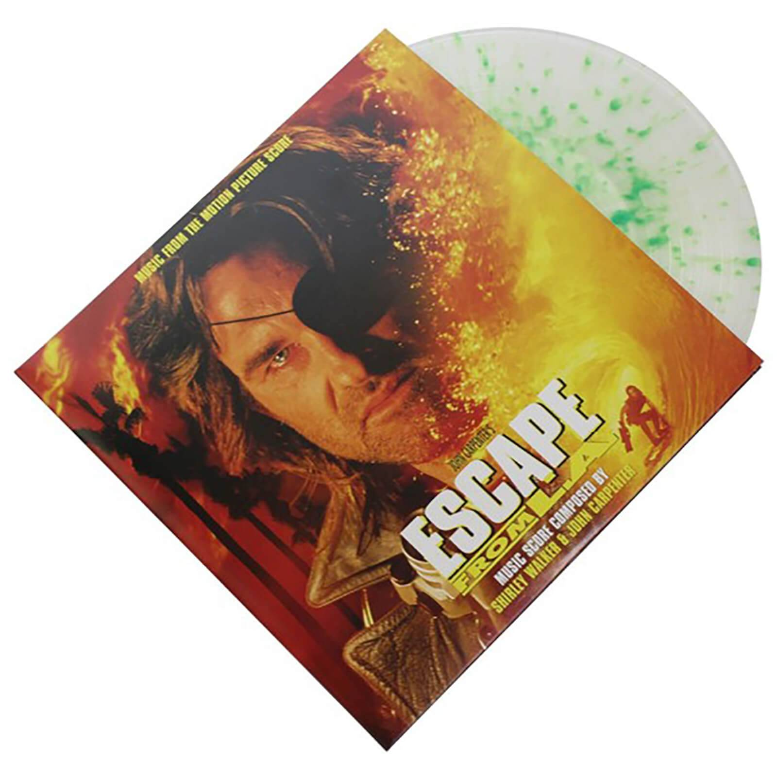 Real Gone Music Shirley Walker & John Carpenter: Escape from L.A. - Music from the Motion Picture Score (Limited Test Tube Clear with Plutoxin Virus Green Splatter Vinyl Edition) 2xLP