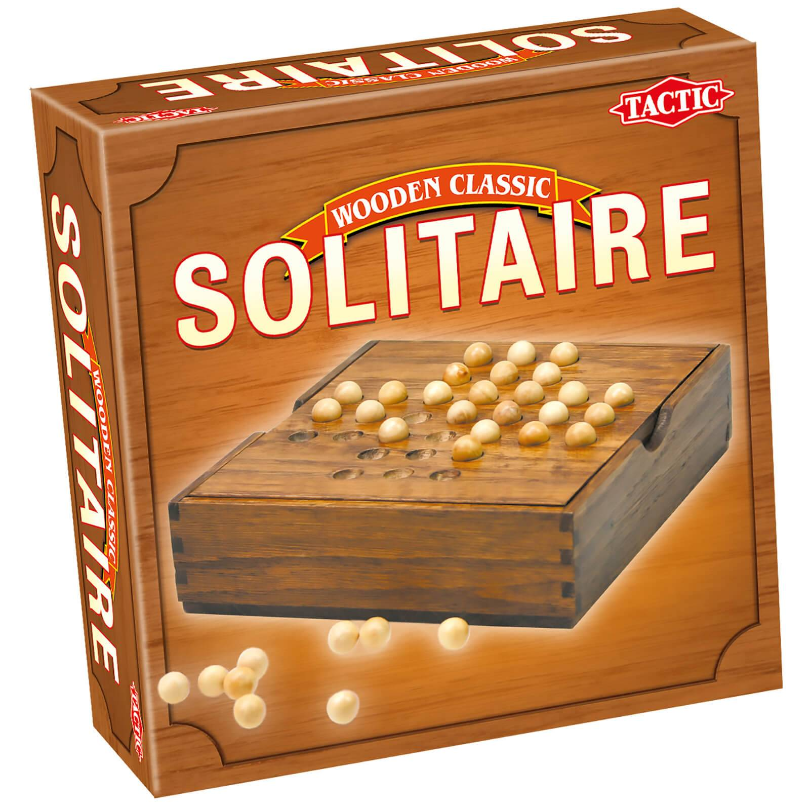Tactic Games Wooden Classic Solitaire