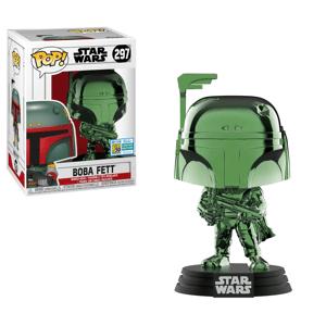 Funko Pop! Vinyl SDCC 2019 EXC Star Wars Boba Fett Green Chrome Pop! Vinyl Figure