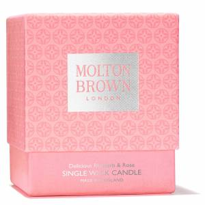 Molton Brown Rhubarb and Rose Single Wick Candle 180g