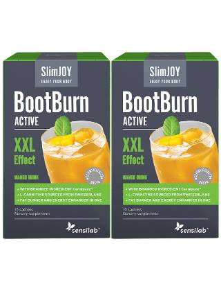 SlimJOY Fat Burner BootBurn ACTIVE with XXL Effect. Mango drink. 2 x 15 sachets