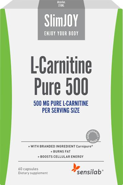 SlimJOY L-carnitine Pure 500 - fat burner. Swiss quality. 60 capsules