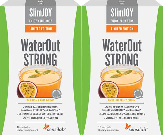 SlimJOY WaterOut STRONG Tropical 1+1 FREE Limited Edition   Fastest Slimming Effect   Passion Fruit Flavour   20-day Programme   SlimJOY