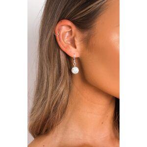 ikrush Women's Nia Diamante Ball Drop Earrings  in SILVER (Size: 1SZE)