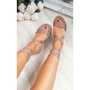 ikrush Women's Reeva Strappy Wedge Sandals  in MOCHA (Size: 5)
