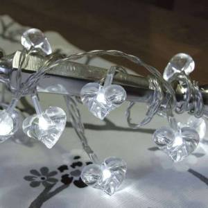 Best Season Clear LED string lights Small Hearts 10-piece