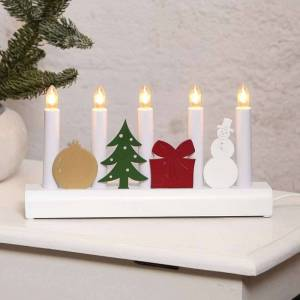 Best Season Colourful candleholder Julia with Christmas motifs