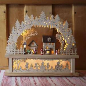 Best Season Rosenheim LED candle arch, battery and transformer