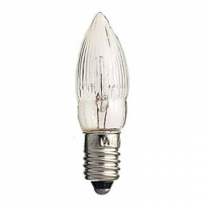 Konstmide CHRISTMAS E10 2.5W 7V candle-shaped spare bulbs pack of 3