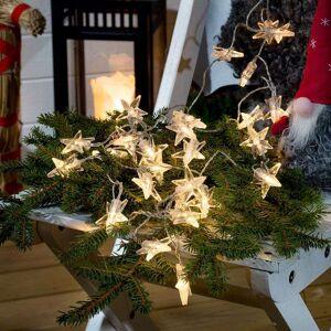 Konstmide CHRISTMAS Outdoor star LED string lights, 80 bulbs, battery