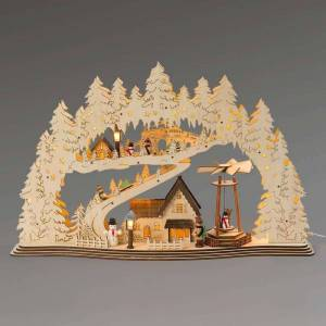 Saico With electric pyramid - LED candle arch Town