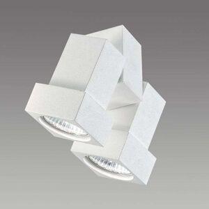 Egger Licht STYLE Q ceiling or wall spotlight, two-bulb, white