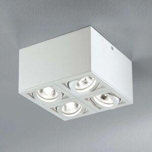 Egger Licht Four Light Box Q4 ceiling spotlights, white