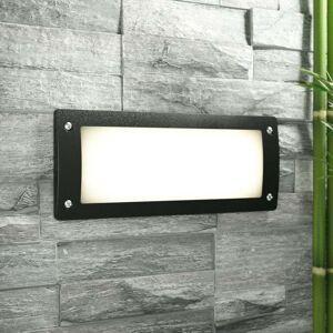 Fumagalli Recessed wall spotlight Leti 300 black, warm white